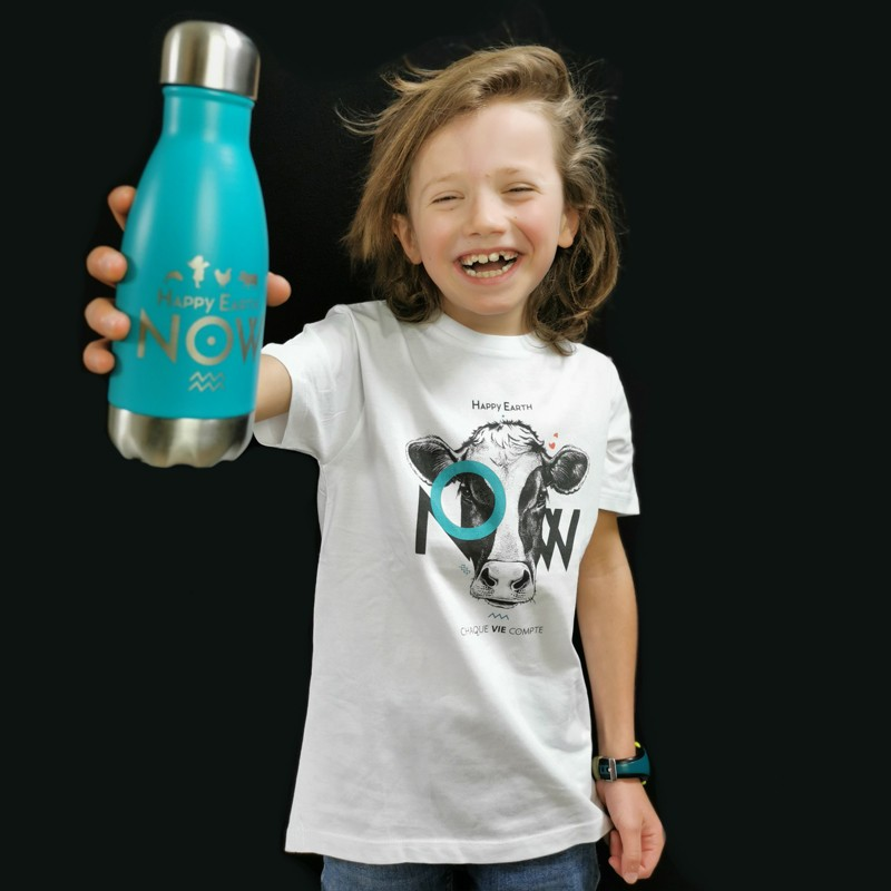 Bouteille Qwetch 260ml Inox Turquoise H.E.N.