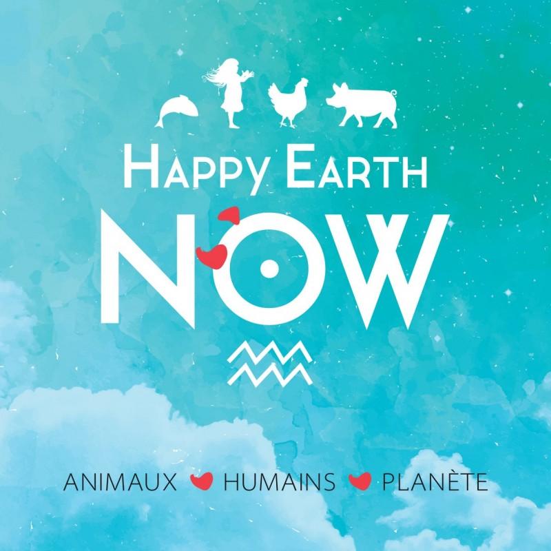 """Autocollant Happy Earth NOW - """"Logo ciel"""""""