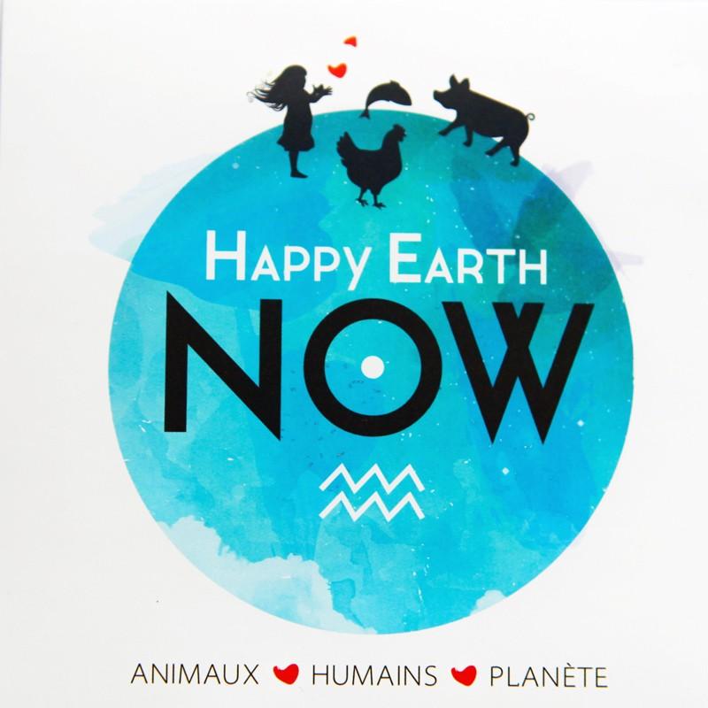 "Autocollant Happy Earth NOW - ""Logo H.E.N."""