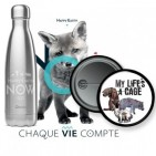 Goodies Happy Earth Now - gourdes, mugs, badges - Animaux Planète Humains