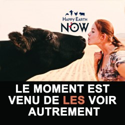 "Autocollant Happy Earth NOW - ""Les voir autrement"""