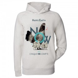 SWEAT CAPUCHE - POULE - Chaque vie compte (homme) - Happy Earth Now