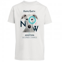 "T-SHIRT - CHIEN ""Adoption, seconde chance"" (homme) - Happy Earth Now"